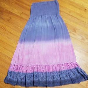 Free People Strapless Silk Dress